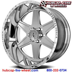 American Force Hero SS6 (6 Lugs) Polished (not Chrome) Wheels & Rims for Trucks and Jeeps
