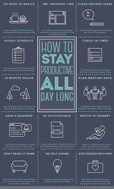 How To Stay Productive All Day - Productivity, Time Management, Motivation, & Goals Self Development, Personal Development, Leadership Development, Professional Development, Software Development, Coaching Personal, Life Coaching, Vie Motivation, Productivity Hacks