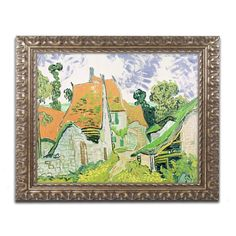 Street in Auvers-sur-Oise by Vincent van Gogh Framed Painting Print