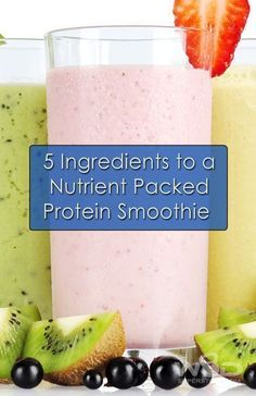 5 Ingredients to a Nutrient Packed Protein Smoothie from http://WODSuperStore.com