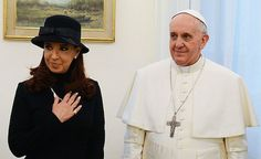 Welcome Pope Francis, campaigner against corporate greed! (shown here with Argentina's President Cristina Kirchner)