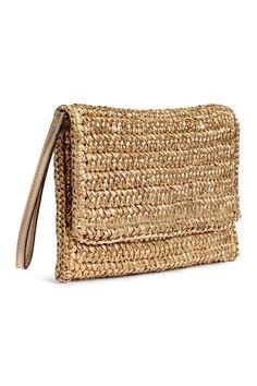 Straw clutch bag - Gold - Ladies | H&M CA