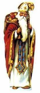 Site Junior - Postais  São Nicolau é o santo patrono de juízes, assassinos, prestamistas, ladrões, mercadores, pobres, alunos, marinheiros, padeiros, viajantes, donzelas e crianças pobres.  É o amigo e protector dos que se encontram em apuros. Adorava crianças, era bondoso e fez milagres.  Nasceu no século IV e foi o bispo de Mira (hoje chama-se Kale), perto da sua terra natal, Lícia, na costa da Turquia.