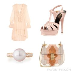 Ootd Wishlist With Philosophy Di Lorenzo Serafini Dress Pink High Heel Sandals Chloé Shoulder Bag And Pink Pearl Ring From May 2016 #outfit #look