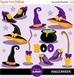70% OFF SALE Halloween party, Halloween clipart, Halloween girls, Halloween hats clipart, Halloween hat clip art, Girls clipart - CA250 by PremiumClipart on Etsy