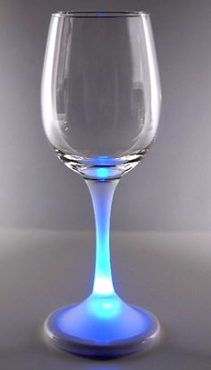 Real Glass Light Up Wine Glass