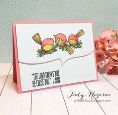 Impression Obsession Cards, Karen Barber, Three Birds, Little Birdie, Pretty Birds, Fall Cards, Copic Markers, Cute Cards, Happy Day