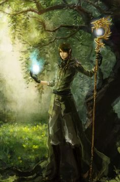 An elven druid! Gosh i love to find these. Fantasy Male, Fantasy Warrior, Fantasy Rpg, Fantasy Artwork, Fantasy World, Elf Warrior, Dnd Characters, Fantasy Characters, Character Portraits