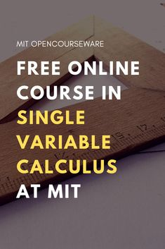 This calculus course covers differentiation and integration of functions of one variable, and concludes with a brief discussion of infinite series. Calculus is fundamental to many scientific disciplines including physics, engineering, and economics. Online Math Courses, Free Courses, Math Help, Fun Math, Learn Math, Maths, Math Skills, Math Lessons, Math Tips