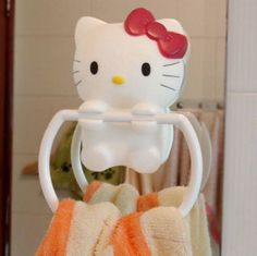 Hello kitty bathroom towel hanging towel rack suction cup Large-in Towel Bars from Home Improvement on Aliexpress.com