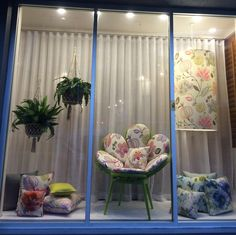 Warwick Fabrics, Brisbane showroom, window display, June 2015. Featuring our Cornucopia collection.
