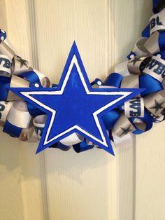 Dallas Cowboys Football Wreath Cyber Sale Gifts for him image 1 Dallas Cowboys Wreath, Football Wreath, Dallas Cowboys Football, Christmas In July, Christmas Wreaths, Christmas Gifts, Glitter Ribbon, Cyber, Gifts For Him