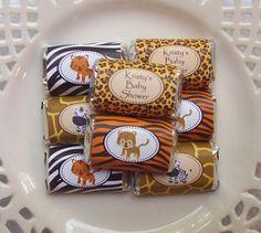Printable Safari Baby Shower Mini Candy Bar por PinkPosyPaperie