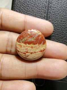 Natural Snakeskin Jasper Round, Smooth Round Cabochon, Gemstone- 23x23x6 MM Size Round Shape  Loose Gemstone-Jewellery Supply-Wholesalegems