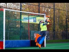 Field Hockey Goalie Fitness and Footwork Drill - YouTube                                                                                                                                                      More