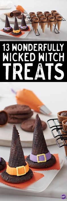 13 Wonderfully Wicked Witch Treats - Double, double toil and trouble…if you're looking for some deliciously wicked witch treats this Halloween, we've rounded up 13 different ideas for you.