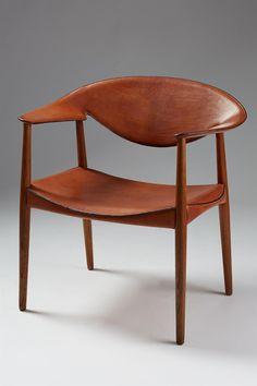 Armchair Metropolitan designed by Aksel Bender Madsen and Ejner Larsen for Willy Beck, Denmark. 1950's.