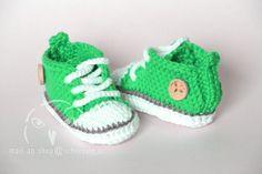 crochet baby chucks shoes, Baby Schuhe gehäkelt