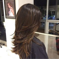 Color and layers Haircuts For Long Hair With Layers, Long Layered Hair, Long Hair Cuts, Medium Hair Styles, Short Hair Styles, Cabello Hair, Hair Color And Cut, Hair Highlights, Hair Dos