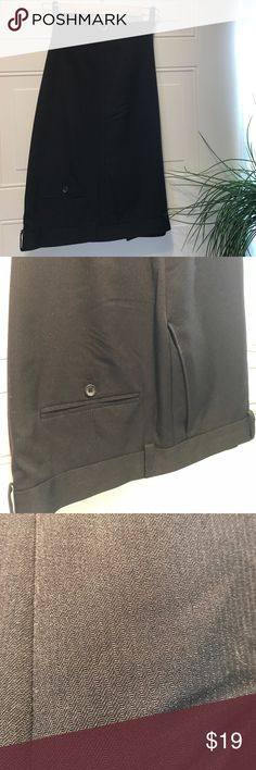 Kenneth Cole Men's black slacks worn once 38 x32 Kenneth Cole Men's black slacks worn once 38 x32 have VERY slight stripe. My son wore for FFA Banquet had to have black slacks you couldn't even tell they had the stripe! Beautiful slacks! Kenneth Cole Pants Dress