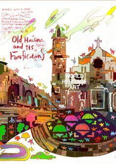 0424-1 #ハバナの旧市街と要塞群 #キューバ共和国 #Old-Havana and its #Fortifications_ #Cuba_ CU_ #Central-America_ Cultural_ Province of Ciudad de la #Habana_ (iv)(v)_ N23 7 60 W82 20 60_ 1982_ 143ha _ Ref:204 #WorldHeritage #Art #KoichiMatsuda