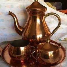 Copper tea set.