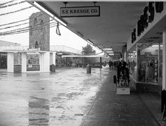 Connecticut Post Mall on a rainy day after Christmas. Dec 26, 1973