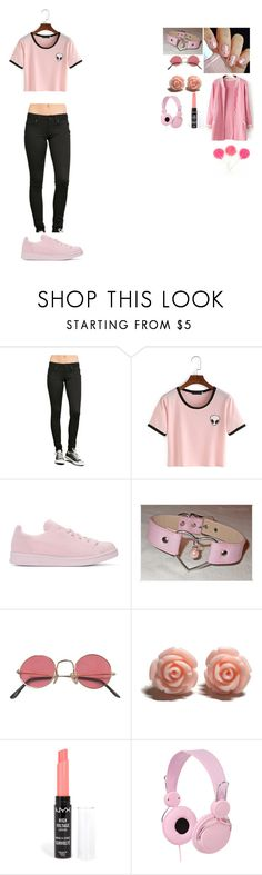 """-sucks on the lollipop;listen to music- ~~kitten"" by sexy-and-submissive-boys ❤ liked on Polyvore featuring LoveSick, adidas Originals and NYX"