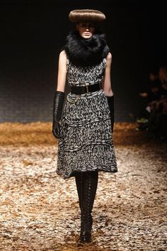 McQueen FW 2012 knit dress.