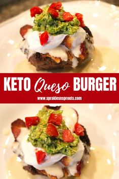 KETO Queso Burger takes everything you love about a good burger and takes it to the next level... trust me you need to make this ASAP! . #burger #queso #bacon #cheese #dinner #keto #ketorecipe #ketogirl #ketoaf #sparklesnsprouts
