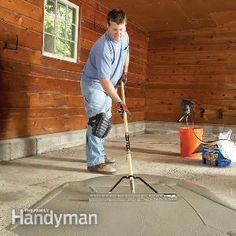 Restore a pitted concrete garage floor with an easy-to-apply resurfacing product. It'll make the floor look fresh and new again at a modest price. For our Basement and Garage? Garage Shop, Garage House, Diy Garage, Garage Doors, Small Garage, Garage Walls, Garage Floor Paint, Garage Repair, Barn Garage