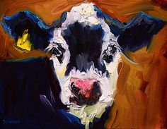 Salt and Pepper Cow 2 by Diane Whitehead