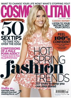 Mollie King's Cosmopolitan cover March 2014 :: On her Oasis collection and finding love again