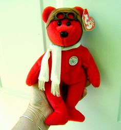 Bear Ty Beanie Babies Red Bear 100 Years of Flight by VintageVigo