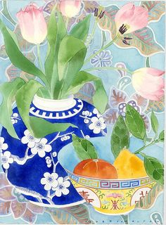 tulips and citrus by Mango Frooty, via Flickr