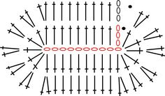 diagrama de la suela ALL STAR crochet