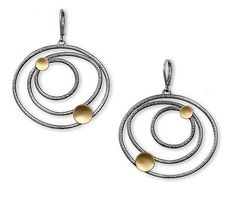 Small Constellation Earrings by Lisa Crowder: Gold & Silver Earrings available at www.artfulhome.com