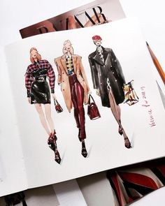 Love Drawing and Design? Finding A Career In Architecture - Fashion Illustration♡ - mode Fashion Design Sketchbook, Fashion Illustration Sketches, Fashion Design Drawings, Illustration Mode, Fashion Sketches, Drawing Fashion, Fashion Design Illustrations, Croquis Fashion, Texture Illustration