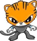 warrior ninja : Tiger Warrior Vector Illustration