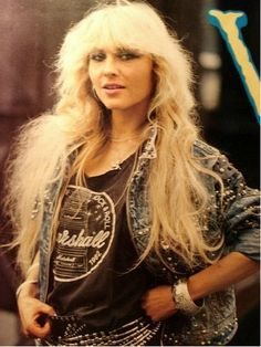 Doro Pesch wearing vintage 1982 Marshall Amps t-shirt
