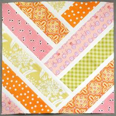 I created this block for a bee I was part of on flickr. It is the block interpretation of a full quilt designed by Violet Craft to showcase her Madrona Road fabric line.  Many thanks to Katy at I&#…