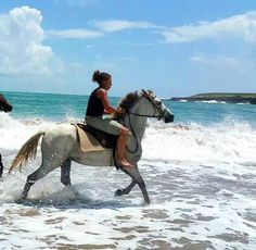 Melanie Enjoying A Gallop With Ghost On The Beach In St Lucia Horseback Riding