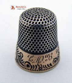 This one has my initials on it... CDB! Vintage Sterling Silver Thimble 1910 by BerrysGems