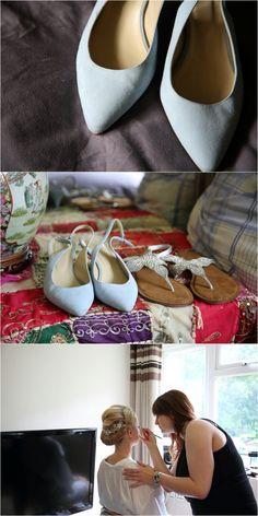 wedding-photography-eltham-palace-london Pale blue wedding shoes
