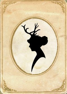 Papercut Art  Elegant Silhouette  Deer by missquitecontrary