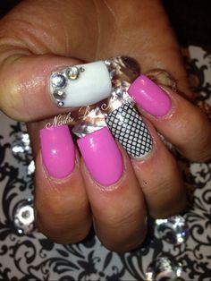 Pink Lace  by Mego - Nail Art Gallery nailartgallery.nailsmag.com by Nails Magazine www.nailsmag.com #nailart