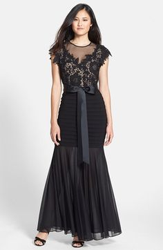 Betsy & Adam Lace & Jersey Gown available at #Nordstrom
