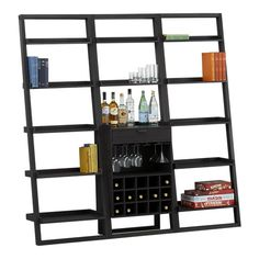 i can't say enough great things about this wine bar bookcase combo from crate & barrel. the grey color is perfection.