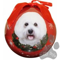 Bichon Frise Shatterproof Dog Breed Christmas Ornament http://doggystylegifts.com/products/bichon-frise-shatterproof-dog-breed-christmas-ornament