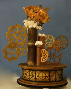 Steampunk Cake, so nifty! This one is my favorite so far!